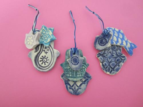 Handmade, Biblically-themed ceramics by Naomi Persky.