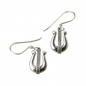 Davids-Harp-Silver-Drop-earrings-side-2