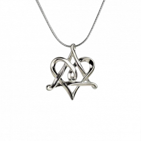 Silver-heart-star-of-david