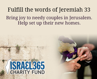 Fulfill the words of Jeremiah. Bring joy to brides and grooms in Jerusalem