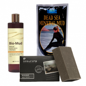 Buy dead sea mud shampoo and dead sea mineral mud and get dead sea mud soap for free!
