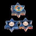 Scenes of Jerusalem Star of David candlesticks
