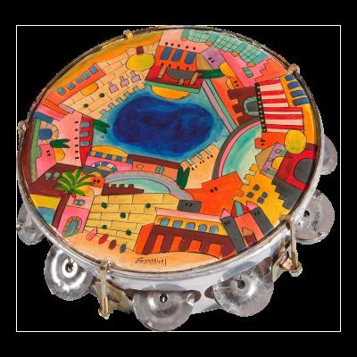 Scenes of Jerusalem Tambourine