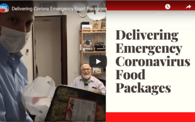 Delivering Corona Emergency Food Packages
