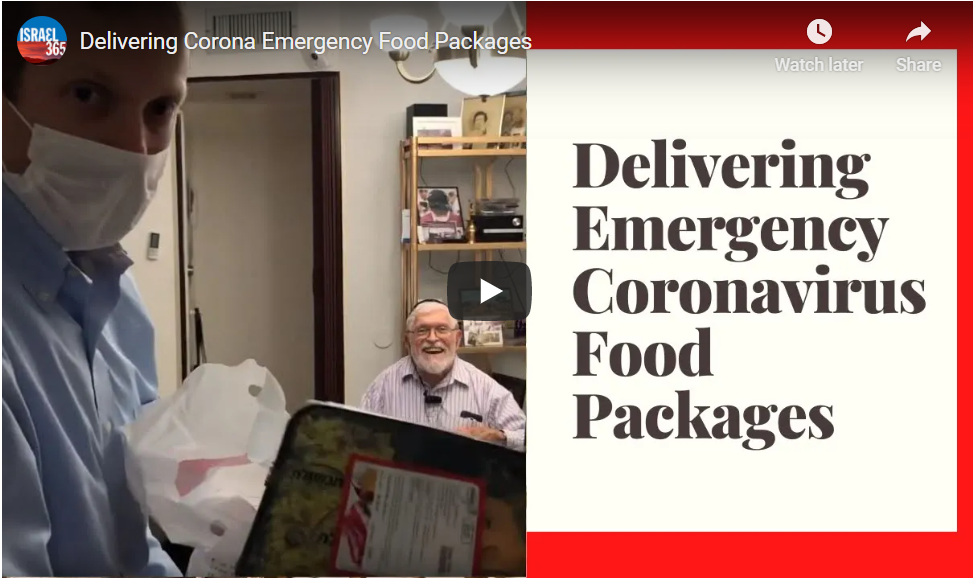 Rabbi Tuly Weisz delivering emergency food packages during COVID-19